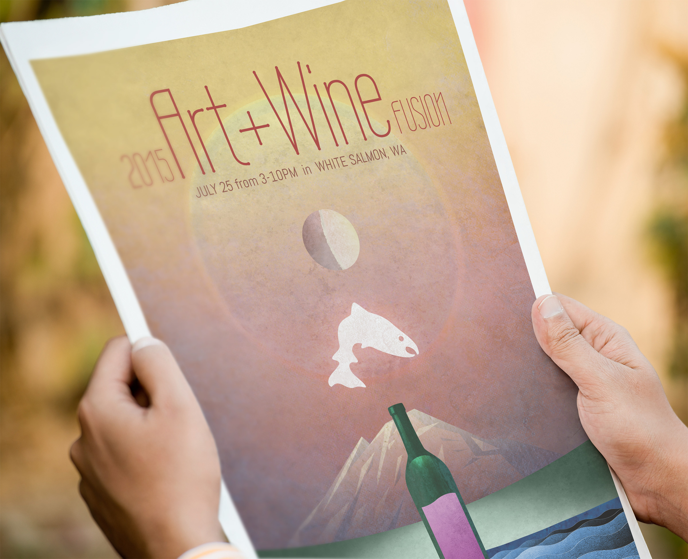 White Salmon, WA Art + Wine Poster