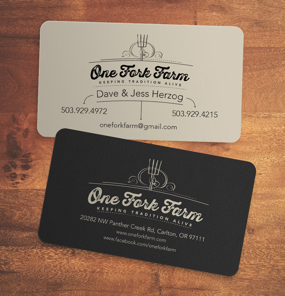 One Fork Farm Business Cards